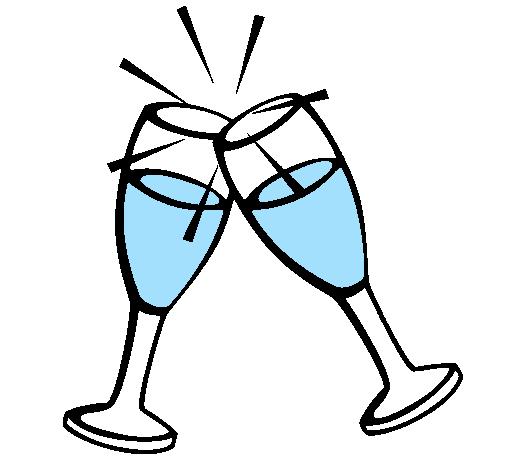 Dessin de champagne colorie par membre non inscrit le 17 - Verre coloriage ...