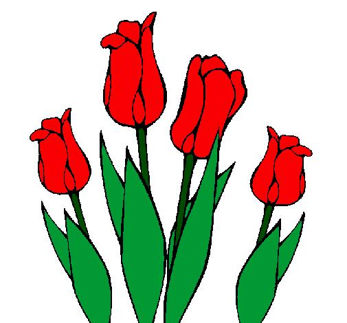 Dessin De Tulipes Colorie Par Membre Non Inscrit Le 23 De Mars De