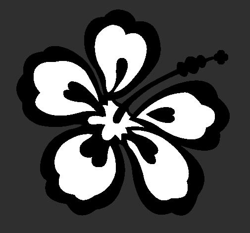 Dessin De Fleur Hawaienne Colorie Par Membre Non Inscrit Le 22 De
