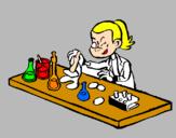 Coloriage Technicien de laboratoire colorié par thomas