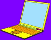 Coloriage Ordinateur portable colorié par GABRIELA