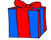 Coloriage Cadeau colorié par marco