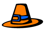 Coloriage Chapeau pèlerin colorié par nathan