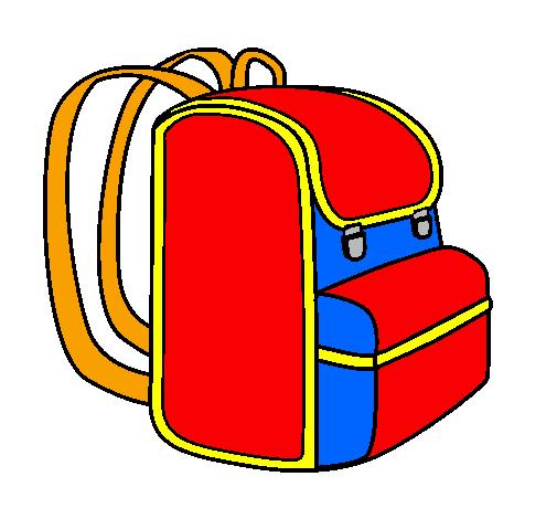 Dessin de cartable colorie par membre non inscrit le 25 de - Coloriage sac a dos ...