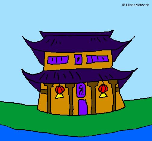 Dessin De Temple Japonais Colorie Par Membre Non Inscrit Le 15 De