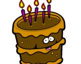 Coloriage Gâteau d'anniversaire 2 colorié par william