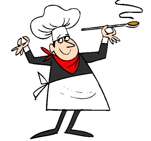 Dessin de cuisinier ii colorie par membre non inscrit le for Cuisinier humour