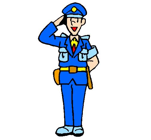 policier qui salue