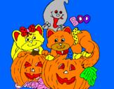 Coloriage Halloween colorié par JULIETA VA