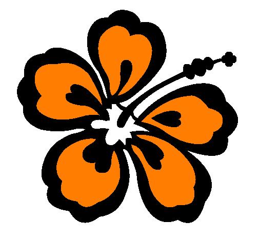 dessin de fleur hawaïenne colorie par membre non inscrit le 01 de