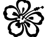 Coloriage Fleur hawaïenne colorié par francoise