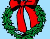 Coloriage Couronne de Noël colorié par aina