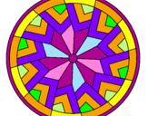 Coloriage Mandala 24 colorié par nina