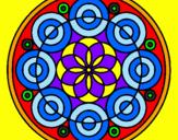Coloriage Mandala 35 colorié par messi