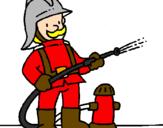 Coloriage Pompier colorié par karima