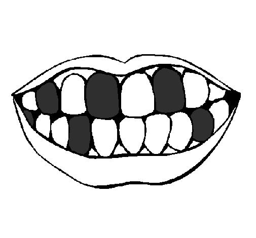 Dessin de bouche et dents colorie par membre non inscrit - Bouche en dessin ...