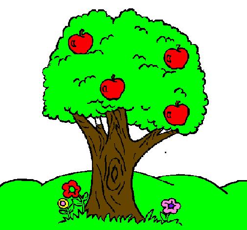 Dessin de Pommier colorie par Membre non inscrit le 03 de ...