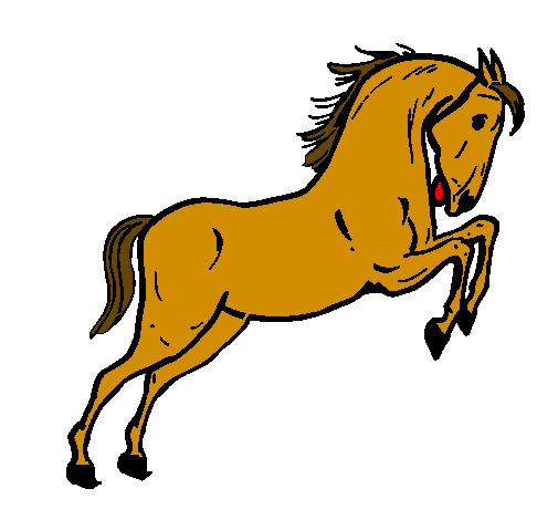 Dessin de cheval qui saute colorie par membre non inscrit le 04 de juillet de 2011 - Coloriage cheval qui saute ...