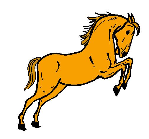 Dessin de cheval qui saute colorie par membre non inscrit le 04 de juillet de 2011 - Cheval dessin couleur ...