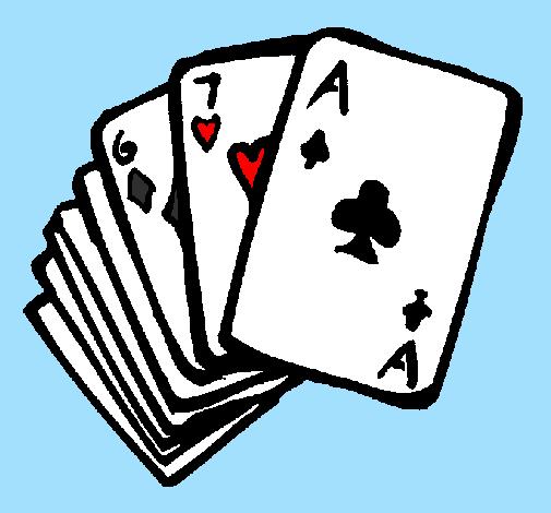 jeu de carte dessin Dessin de Jeu de cartes américaines colorie par Membre non inscrit