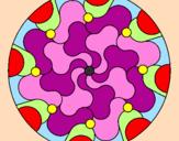 Coloriage Mandala 32 colorié par luci