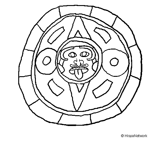 Calendrier Maya Dessin.Dessin De Calendrier Maya Colorie Par Membre Non Inscrit Le
