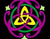 Coloriage Mandala 39 colorié par Adrià Sanglas Ocaña