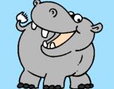 Coloriage Hippopotame colorié par tOM