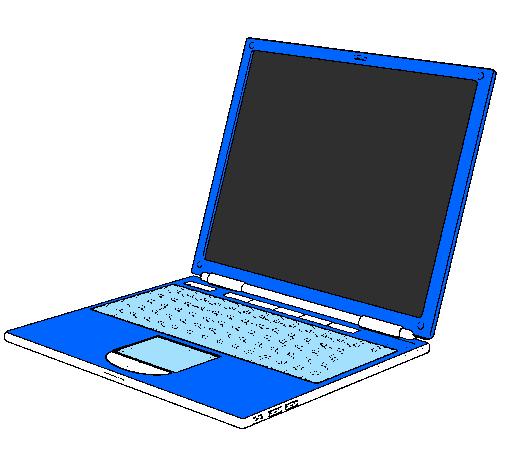 Dessin de ordinateur portable colorie par membre non - Ordinateur coloriage ...