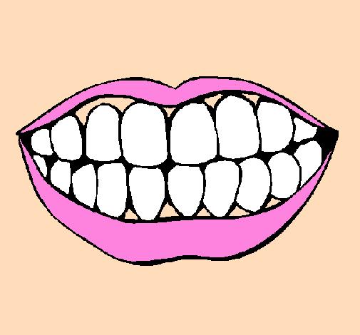Dessin de bouche et dents colorie par membre non inscrit - Dessin de dent ...
