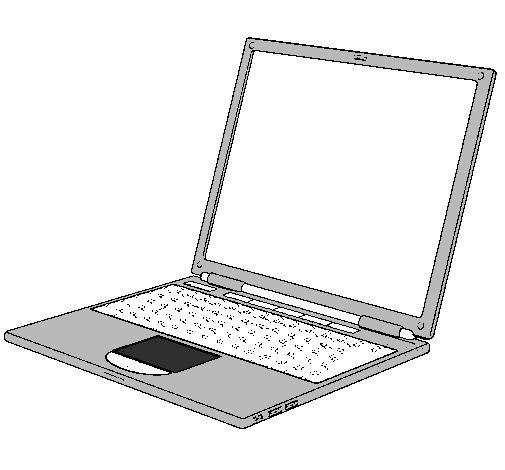 Dessin de ordinateur portable colorie par membre non - Dessin a colorier sur ordinateur ...