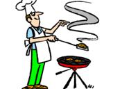 Coloriage Barbecue colorié par Nicolas