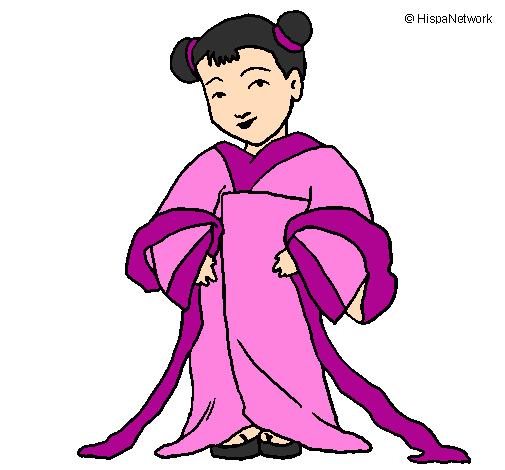 Dessin De Petite Chinoise Colorie Par Membre Non Inscrit Le 20 De