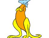 Coloriage Kangourou colorié par juliette