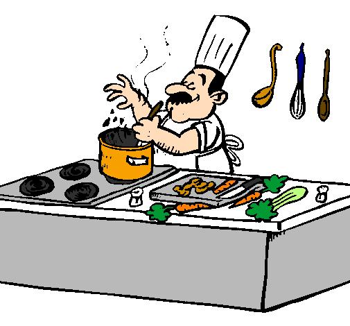 dessin de cuisinier dans la cuisine colorie par membre non inscrit le 06 de octobre de 2011. Black Bedroom Furniture Sets. Home Design Ideas