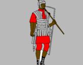 Coloriage Soldat romain colorié par antoine