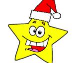 Coloriage étoile de noël colorié par Tom.R