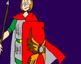Coloriage Soldat romain II colorié par jonath