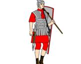 Coloriage Soldat romain colorié par jonath
