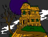 Coloriage Maison hantée colorié par alan