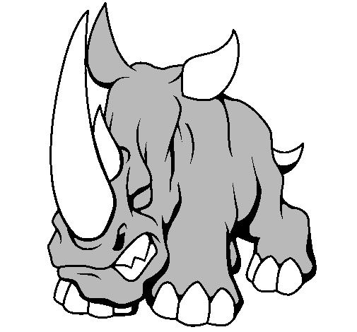 Dessin de rhinoc ros ii colorie par membre non inscrit le - Rhinoceros dessin ...