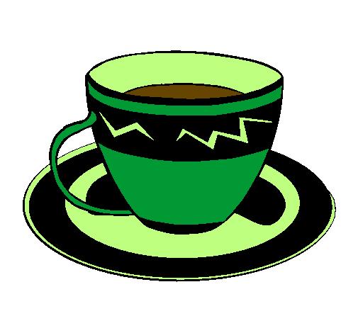 Dessin de tasse de caf colorie par membre non inscrit le - Dessin tasse a cafe ...