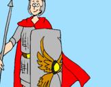 Coloriage Soldat romain II colorié par emanuele