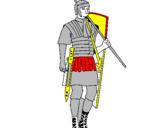 Coloriage Soldat romain colorié par jul es
