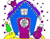 Coloriage carte de noël colorié par ughyfgvdftffff