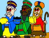 Coloriage Les rois mages colorié par alan