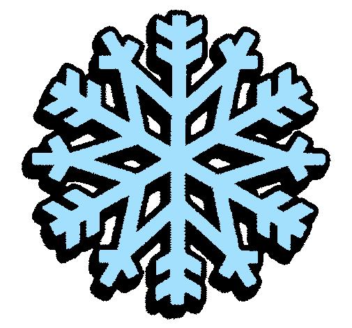 dessin de flocon de neige colorie par membre non inscrit le 27 de
