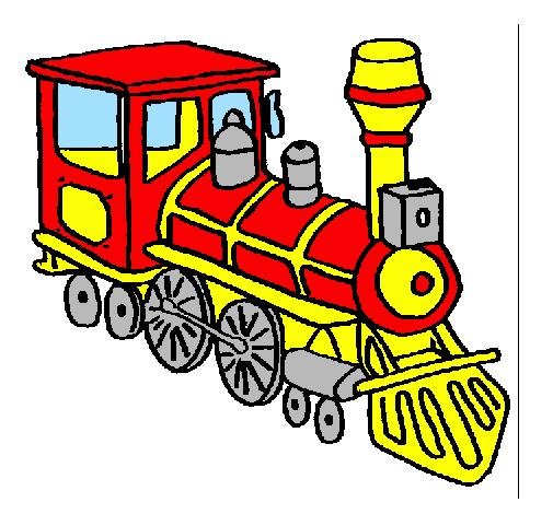 Dessin de train colorie par membre non inscrit le 27 de - Dessin train et wagon ...