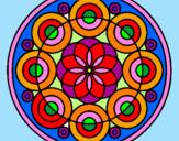 Coloriage Mandala 35 colorié par eugénie