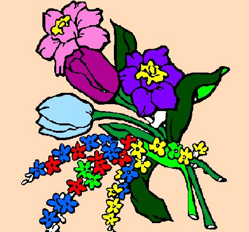Dessin de bouquet de fleurs colorie par membre non inscrit le 27 de novembre de 2011 - Coloriage bouquet de fleurs ...